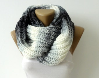 Scarf, Infinity Scarf, Chunky Knit Scarf, Winter Scarf, Circle Scarf , scarf Men Scarves Wrap Scarf Winter Accessories / Mother's Day Gifts
