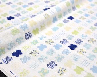 Japanese Fabric Butterfly Double Gauze - blue - Fat Quarter