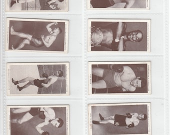 Complete Set of 50x Original Cigarette / Tobacco Cards - 'BOXING PERSONALITIES' - by Churchman  c1938