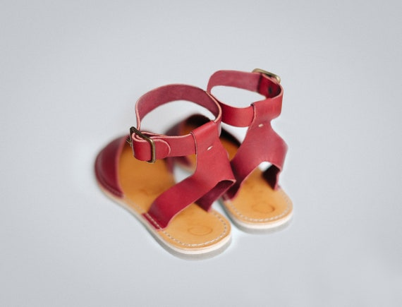 Slip Strap Ons Adjustable Leather Ankle Leather Strap Sandals Flats Sandals Ankle Summer NEW Shoes Flat Sandals Sandals aqwUzxf