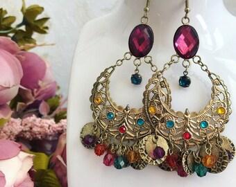 Earrings in Oriental style