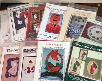 Lot of 10 New and Vintage Quilt Patterns All New and Uncut