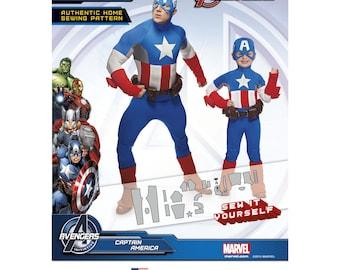 1030, Simplicity, Marvel, Avengers Captain America, Super Hero, Halloween Costume Avengers Costume, Childrens Costume, Marvel Comics Costume
