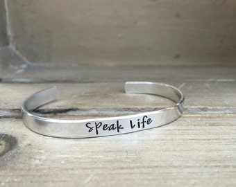 Speak Life / Proverbs 18:21 / Bible Verse Bracelet / Scripture Bracelet / Pastor Gift  / Confirmation / Gift for Her / Gift for Wife