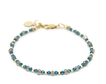 London Blue Topaz and Labradorite bracelet