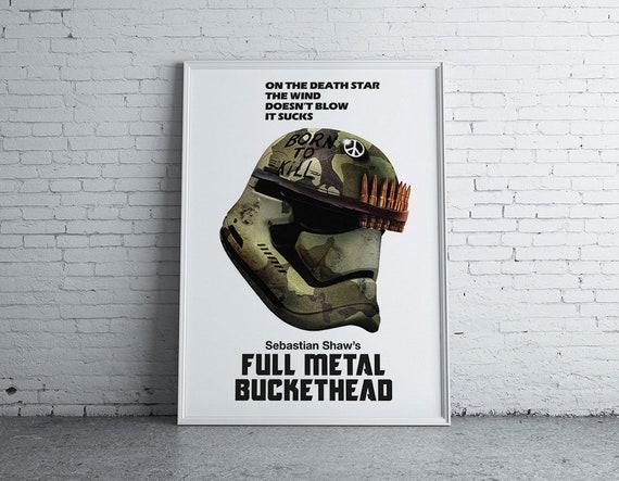 star wars print stormtrooper full metal jacket poster pop