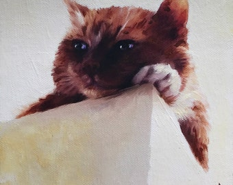 Cat Portrait - Domestic Cat Portraits - Cat Painting from your Photo - Portraits by NC