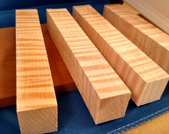 Curly Maple Pen Blanks, 10pc lot