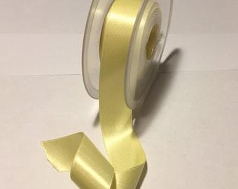 yellow satin ribbon, 25mm wide