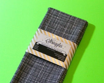 Mini Crosshatch Black & White Headwrap