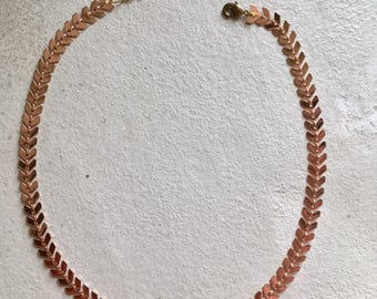 Necklace Rose Gold and marble stone appearance