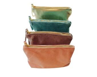Suede clutch bag/pouch
