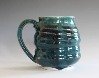 Coffee Mug Pottery, 13 oz, unique coffee mug, handmade ceramic cup, hand thrown mug, stoneware mug, pottery mug, ceramics and pottery