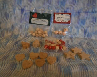 Wooden Mini Shapes - Fibre Craft Doll Heads - Micro Apples