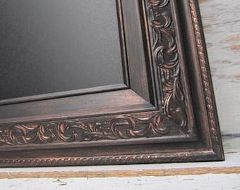 """MAGNETIC FRAMED CHALKBOARD For Sale Oil Rubbed Bronze Modern Framed Chalkboard Black Tuscan 30""""x26"""" Tuscan Kitchen Decor Framed Chalk board"""