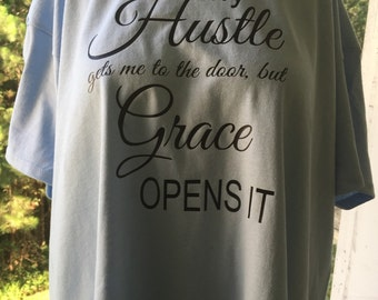 Hustle & Grace Entrepreneur Women's T-shirt, Momtrepreneur, Boss Lady, Business Woman, Hustle T-Shirt, Boss Tee, Women's Clothing
