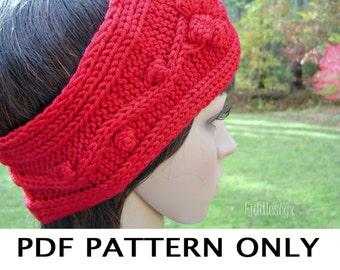 Knitting Pattern - Knitted Earwarmer Pattern - Knit Headband Pattern - the MARTHA earwarmer (Child, & Adult sizes)
