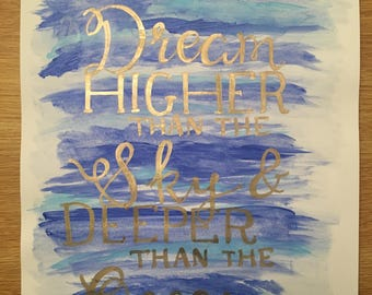 Ocean Themed Calligraphy Quote Poster