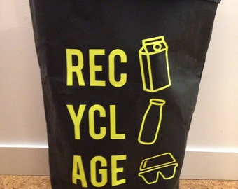 Washable Kraft bag, for all recyclable waste. Customizable. Model L