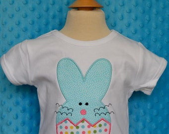 Personalized Easter Bunny Egg Applique Shirt or Bodysuit Girl or Boy