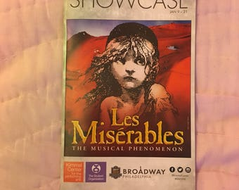 Les Misérables tour playbill