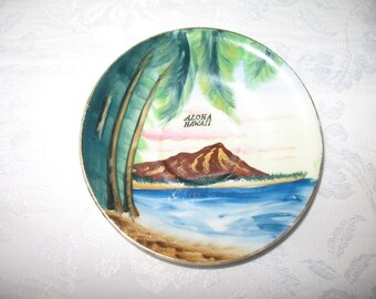 Vintage Aloha Hawaii Dish for Holding Beverage or as Art