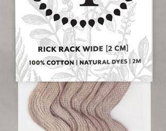 Naturally Dyed 20mm Rick Rack-Lavender