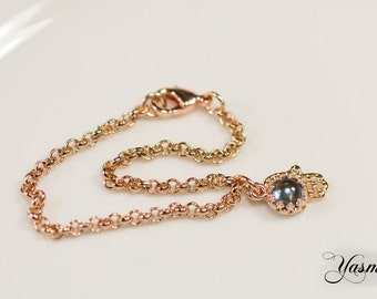 Topaz rose gold plated