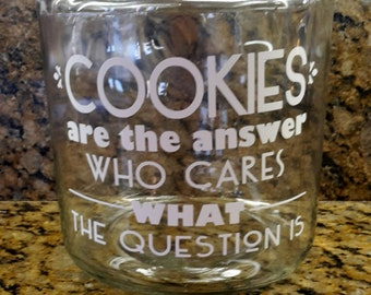 CUSTOM COOKIE Jar Glass 1 gal COOKIE Jar Glass Cookie Jar Design yourself Cookie Jar Wedding Candy Jar Candy Container Customized jar w/ lid