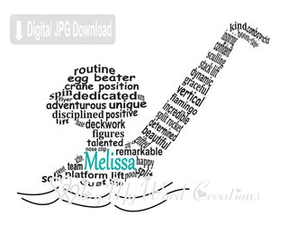 Synchronized Swimmer Word Art, Personalized Synchronized Swimmer Gift, Swimmer Word Art, Swim Coach Gift, Swim Art, PRINTABLE DIGITAL FILE