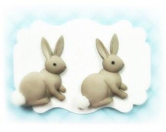 Easter Bunny Earrings, Bunny Jewelry,  Easter Earrings Women's Earrings Ladies Earrings Jewelry Button Post Stud Earrings