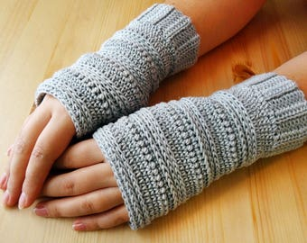 Crochet Pattern - Fingerless Gloves - PDF Pattern