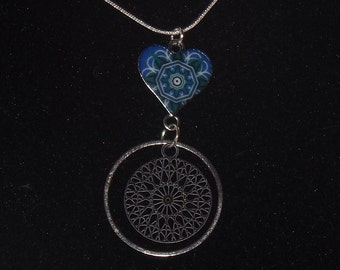 Necklace: Blue Heart