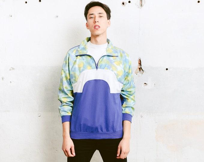 Vintage Shell Jacket . Mens 90s Jacket Zip Up Windbreaker 90s Jacket Sports Jacket Anorak 90s Clothing . size Medium M
