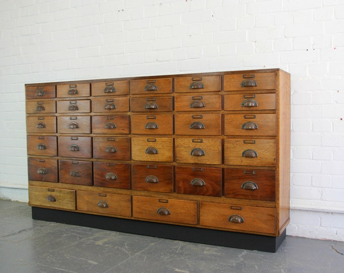 Cherry Wood Boots Pharmacy Drawers Circa 1920s