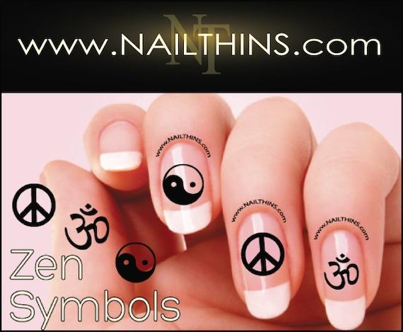 Om Peace Ying Yang Nail Decal Zen Symbol Nail Designs