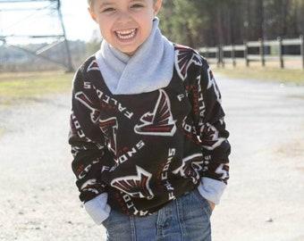Fernando's Boys Fleece Scarf Pullover PDF Pattern - Sizes 2T to 14 girls