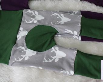Buck Heads - Hunter Green - Hello Bear Knit - Maxaloones - Cloth Diaper Pants - Neutral Baby - Made to Order