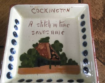 A stitch in time saves nine mottoware dish