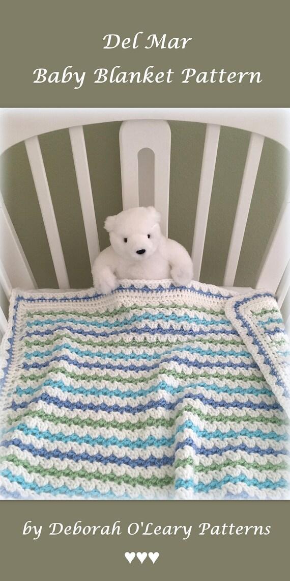 Crochet Baby Blanket Pattern Easy Crochet Pattern Del Mar