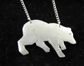 Callisto Bear                       -solid silver bear necklace