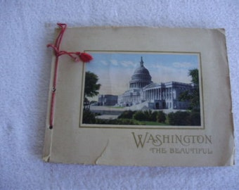 WASHINGTON THE BEAUTIFUL 1920 Copyright Charles B Reynolds Pictorial Folder Booklet