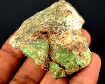 341.20 Ct. Natural Uncut Untreated Arizona Green Chrysocolla Gemstone Rough-Fresh Arrival