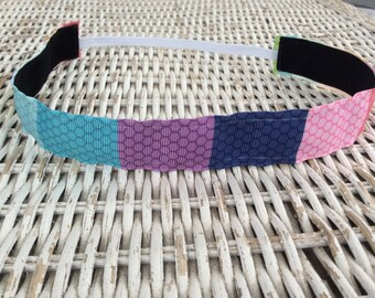 Colorful Pattern Headband - Adult Headband - Sports Headband - No Slip Headband - Kids Headband - Fitness Headband - Running Headband