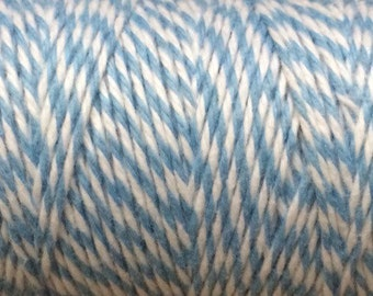 Light Blue Bakers Twine • Baby Blue  Twine • Gift wrapping • Scrapbook • cards • crafts • weddings • wedding favors • favors • Baby Boy