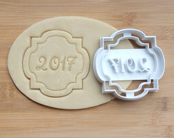 2018 Graduation Cookie Cutter 3D Printed | Graduation Cookie Cutter / Wedding Cookie Cutter / Graduate Cookie / New Years Eve Cookie Cutter