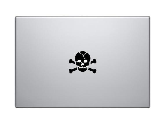 Poison skull sticker macbook sticker skull decal