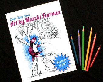 Color Your Own Art by Marcia Furman - Coloring Pack - Coloring Pages - Adult Coloring Book