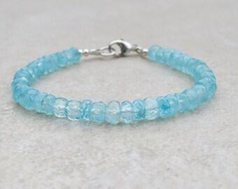 Mystic Coated Aqua Rainbow Moonstone Bracelet
