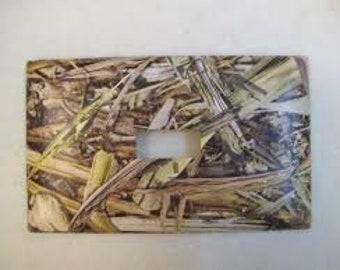 Camouflaged Pattern Single Light Switch Plate